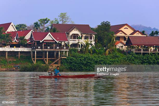 Hotels On Don Khong Island In The 10 Thousand Islands Area Along The Mekong River Southern Laos