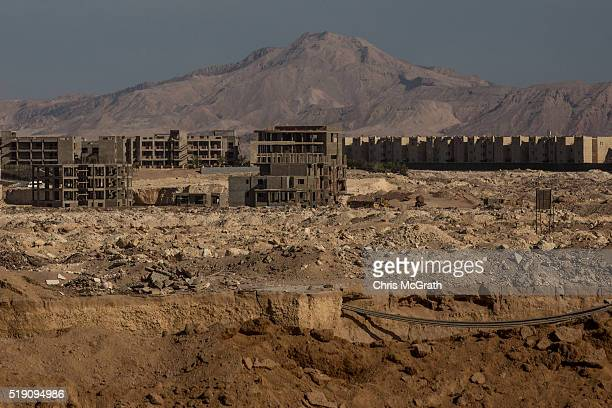 Hotels under construction are seen on April 3 2016 in Sharm El Sheikh Egypt Prior to the Arab Spring in 2011 some 15million tourists would visit...