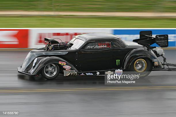 A hotrod drag racing car on the track taken on May 27 2010