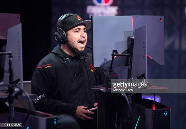 Hotshot of Heat Check Gaming during the game against Kings Guard Gaming on August 9 2018 at the NBA 2K League Studio Powered by Intel in Long Island...