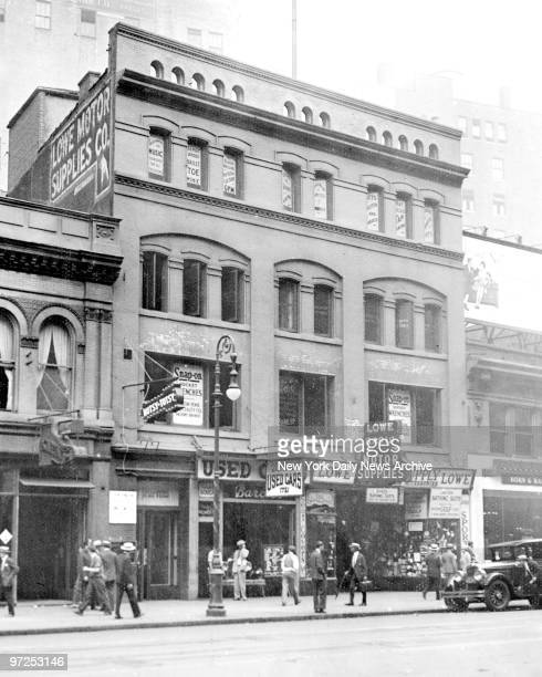 Hotsy Totsy Club at 1721 Broadway between 54 55th Streets in New York City This notorious club where a shooting took place Legs Diamond and thrree...