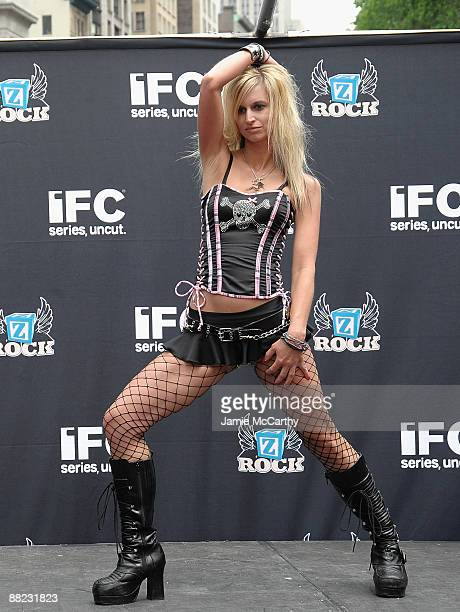 Hottest Rocker Mom Contestant Shawna Owens attends America's Hottest Rocker Mom Contest at Madison Square Park on June 3 2009 in New York City