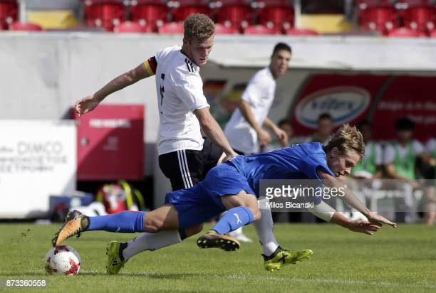 Hottmann Eric of Germany in action during International Friendly between U18 Germany and U18 Italy at Ammochostos Stadium on November 12 2017 in...