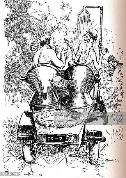 HotWeather Hints for Motorists 1906 After a cartoon by Harold Robert Millar From The Tatler Volume 21 [The Tatler London 1906]