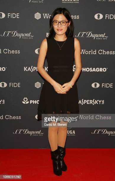 Hou Yifan attends the FIDE World Chess Championship 2018 Gala Opening 2018 at The VA on November 8 2018 in London England