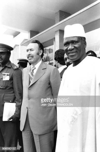 Houari Boumédiène et Ahmed Sékou Touré lors d'un sommet de l'OUA à Khartoum en juillet 1978 Soudan