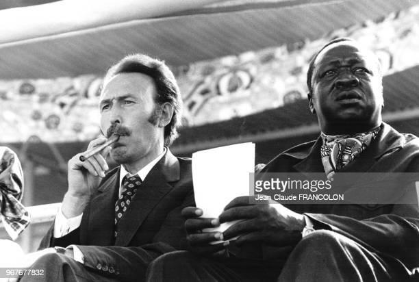 Houari Boumédiène et Idi Amin Dada lors du 12ème sommet de l'OUA à Kampala le 29 juillet 1975 Ouganda