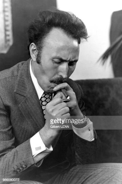 Houari Boumédiène lors d'un sommet de l'OPEP à Alger le 3 mars 1975 Algérie