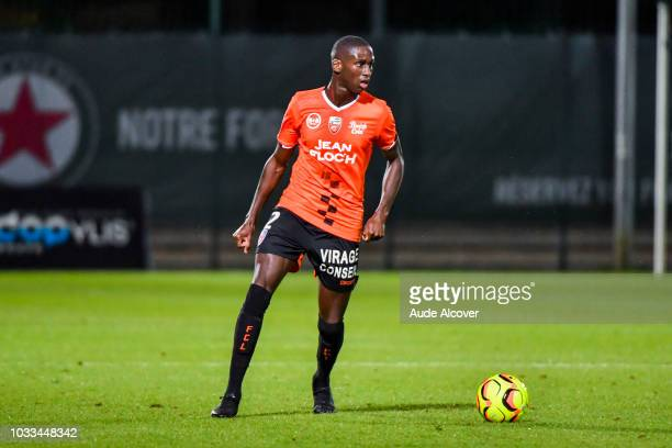 Houboulang Mendes of Lorient during the French Ligue 2 match between Red star and Lorient at Stade Pierre Brisson on September 14 2018 in Beauvais...