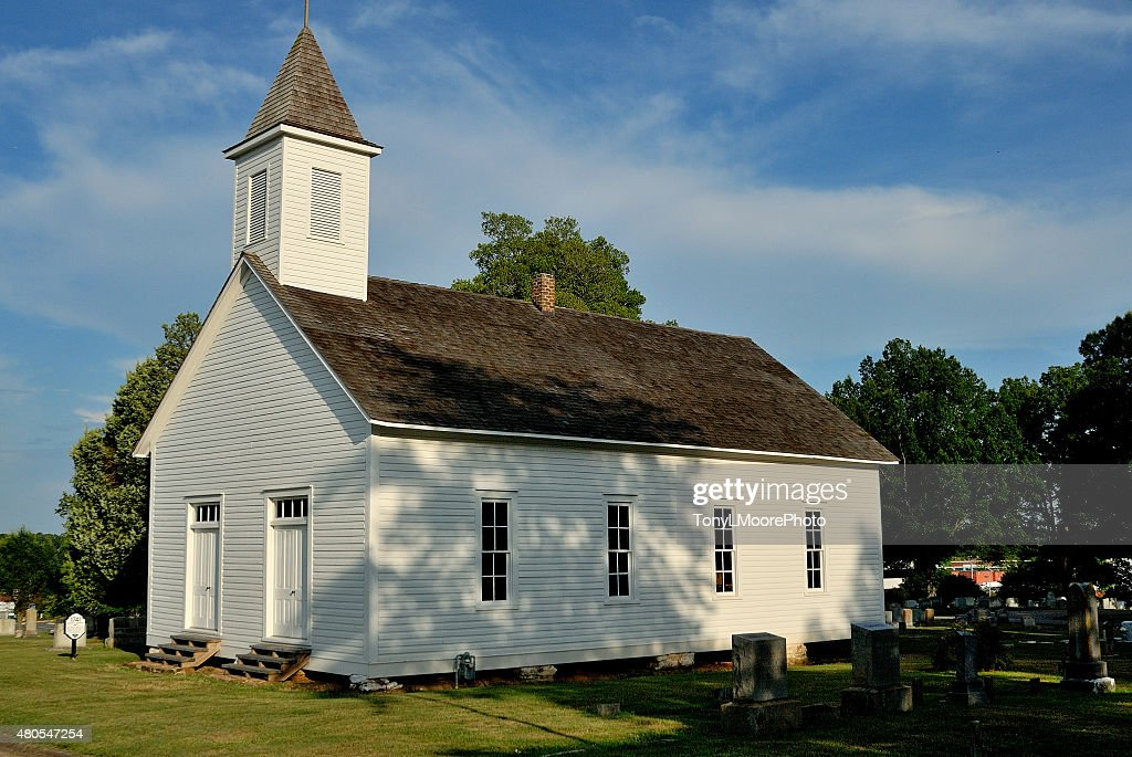 Houck's Chapel and cemetery : Stock Photo