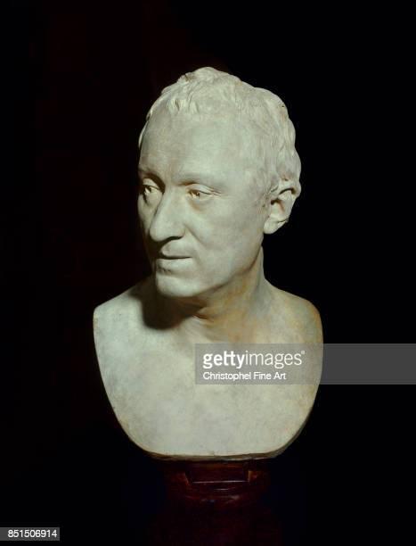 Houdon Jean Antoine Portrait Bust of Denis Diderot 1771 Paris Louvre Museum