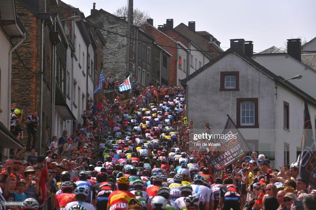 Houffalize City / Cote de Saint Roch (456m)/ Landscape / Peloton / Fans / Public / during the104th Liege-Bastogne-Liege 2018 a 258,5km race from Liege to Liege-Ans on April 22, 2018 in Liege, Belgium.