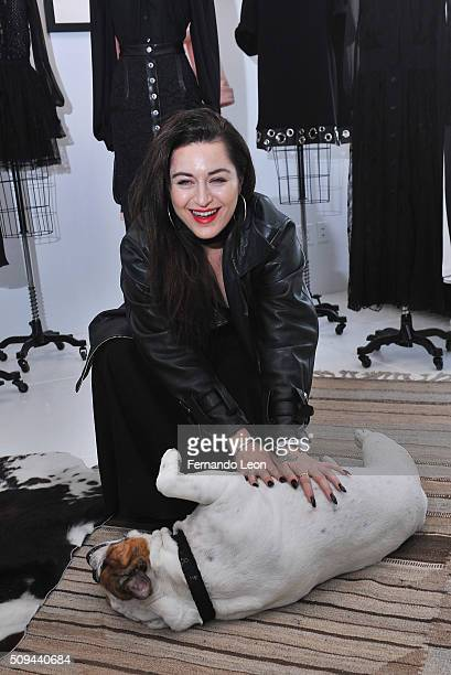 Houghton designer and creative director Katharine Polk poses for pictures during the Houghton presentation at the Houghton Atelier during Fall 2016...
