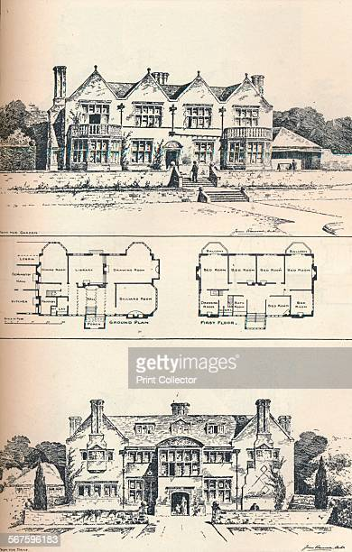 'Houghton Grange near Huntingdon' c1897 Houghton Grange was built by architect James Ransome in 1897 From The Studio Volume 52 [London Offices of the...
