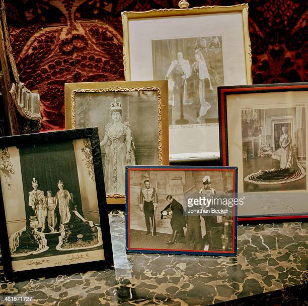 Houghton Hall is photographed for Vanity Fair Magazine on February 3 2013 in Norwich England Photos of the royal family including Queen Mary and the...
