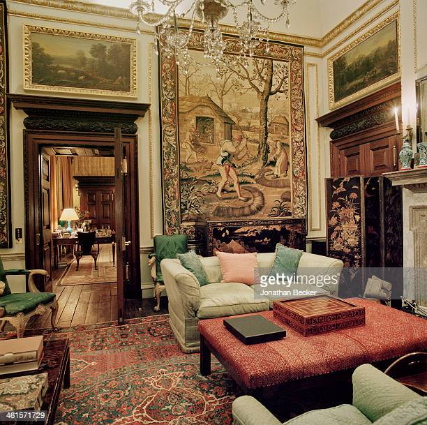 Houghton Hall is photographed for Vanity Fair Magazine on February 3 2013 in Norwich England