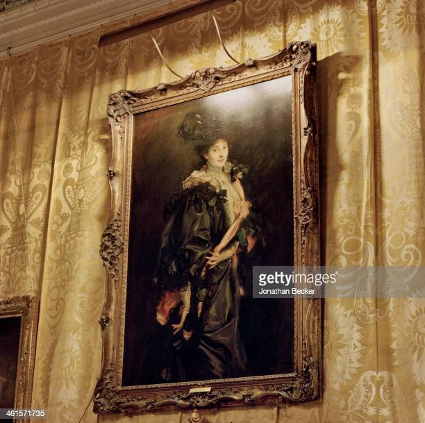 Houghton Hall is photographed for Vanity Fair Magazine on February 3 2013 in Norwich England A Sargent portrait of Aline de Rothschild David...