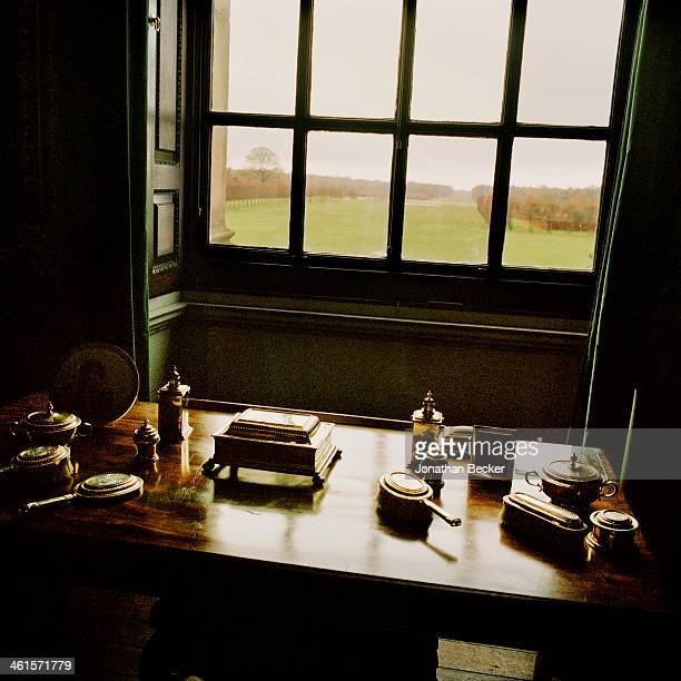 Houghton Hall is photographed for Vanity Fair Magazine on February 3 2013 in Norwich England A view from a guest bedroom PUBLISHED IMAGE