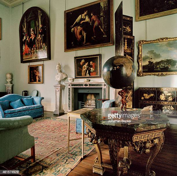 Houghton Hall is photographed for Vanity Fair Magazine on February 3 2013 in Norwich England The Picture Gallery PUBLISHED IMAGE