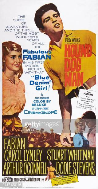 Hounddog Man poster US poster art from left Carol Lynley Fabian 1959