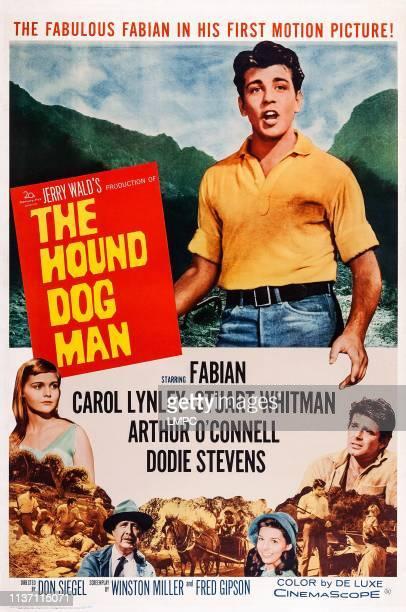 Hounddog Man poster US poster art top Fabian bottom from left Carol Lynley Arthur O'Connell Dodie Stevens Stuart Whitman 1959
