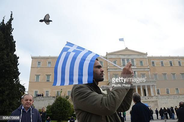 Hour general strike in Athens organised by the Greek unions against the planned pension reforms by the Greek goverment