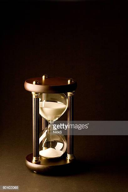 Hourglass on Black
