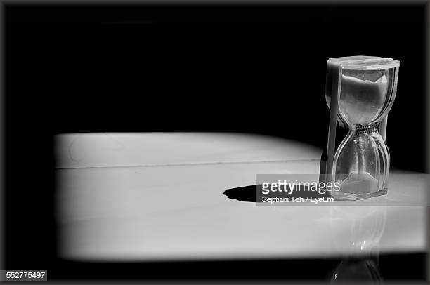Hourglass On Table At Home