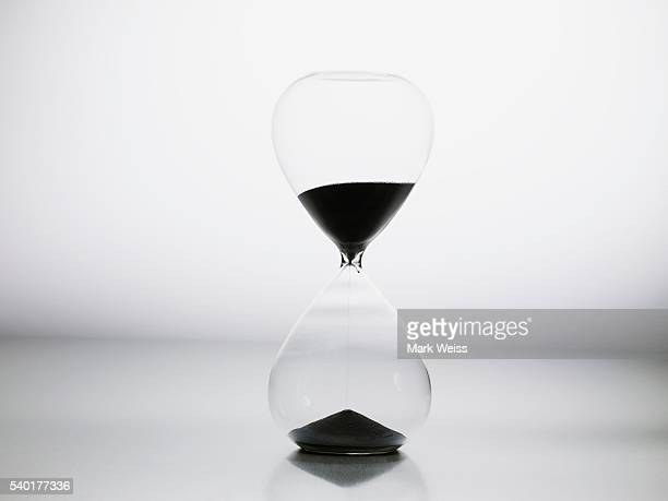 Hourglass with black sand