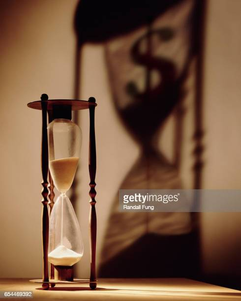 Hourglass with Dollar Sign