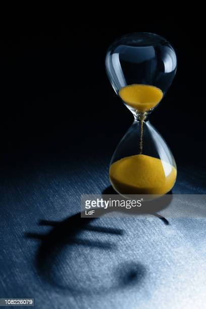 Hourglass with Euro Symbol Shadow