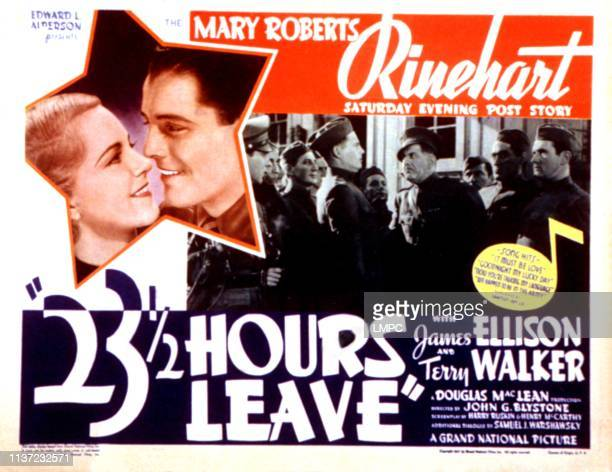 Hours Leave lobbycard Terry Walker James Ellison Murray Alper Paul Harvey Ward Bond 1937