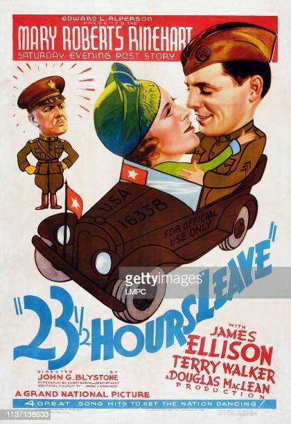 Hours Leave poster US poster from left Paul Harvey Terry Walker James Ellison 1937