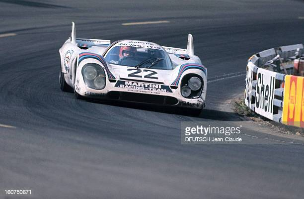 24 Hours Of Le Mans 1971 La 39ème édition des 24 Heures du Mans 1971 la Porsche 917 du Martini Racing Team sur piste
