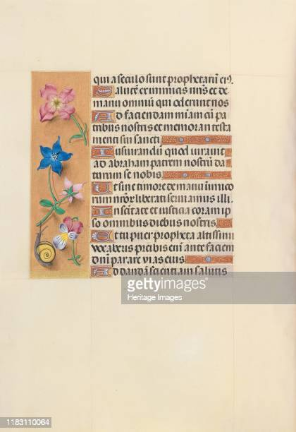 Hours of Queen Isabella the Catholic Queen of Spain Fol 123v circa 1500 This manuscript was illuminated by a circle of at least five highly organized...