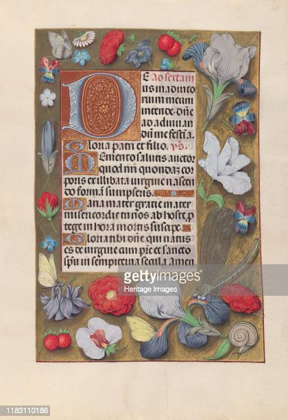 Hours of Queen Isabella the Catholic Queen of Spain Fol 137r circa 1500 This manuscript was illuminated by a circle of at least five highly organized...