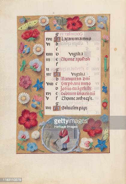 Hours of Queen Isabella the Catholic Queen of Spain Fol 13v December circa 1500 This manuscript was illuminated by a circle of at least five highly...