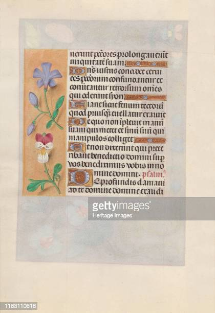 Hours of Queen Isabella the Catholic Queen of Spain Fol 155v circa 1500 This manuscript was illuminated by a circle of at least five highly organized...