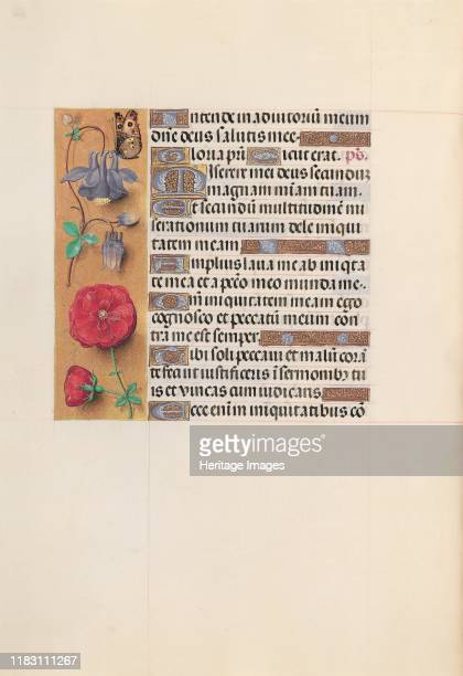 Hours of Queen Isabella the Catholic Queen of Spain Fol 204v circa 1500 This manuscript was illuminated by a circle of at least five highly organized...