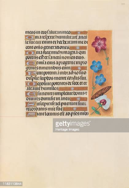 Hours of Queen Isabella the Catholic Queen of Spain Fol 224r circa 1500 This manuscript was illuminated by a circle of at least five highly organized...