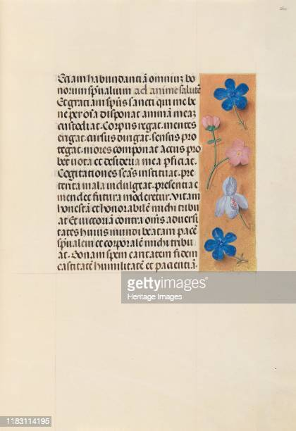 Hours of Queen Isabella the Catholic Queen of Spain Fol 260r circa 1500 This manuscript was illuminated by a circle of at least five highly organized...