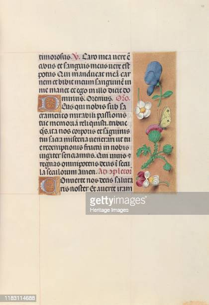Hours of Queen Isabella the Catholic Queen of Spain Fol 48r circa 1500 This manuscript was illuminated by a circle of at least five highly organized...