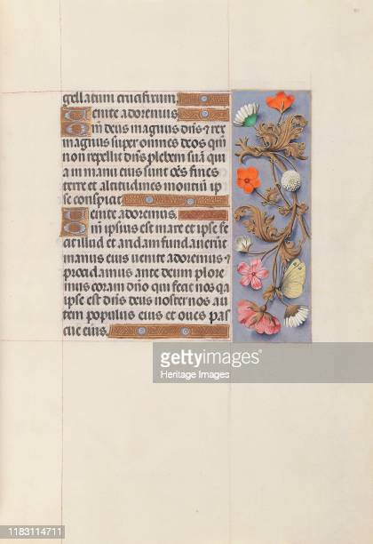 Hours of Queen Isabella the Catholic Queen of Spain Fol 51r circa 1500 This manuscript was illuminated by a circle of at least five highly organized...