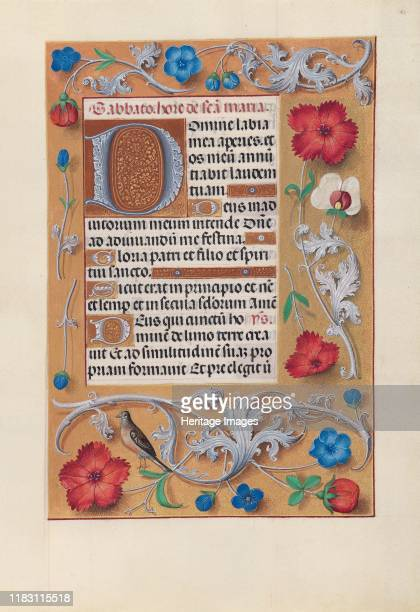 Hours of Queen Isabella the Catholic Queen of Spain Fol 81r circa 1500 This manuscript was illuminated by a circle of at least five highly organized...