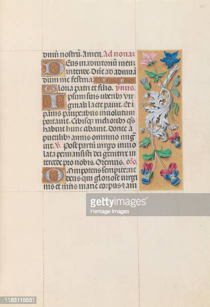 Hours of Queen Isabella the Catholic Queen of Spain Fol 84r circa 1500 This manuscript was illuminated by a circle of at least five highly organized...