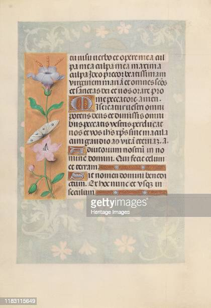 Hours of Queen Isabella the Catholic Queen of Spain Fol 88v circa 1500 This manuscript was illuminated by a circle of at least five highly organized...