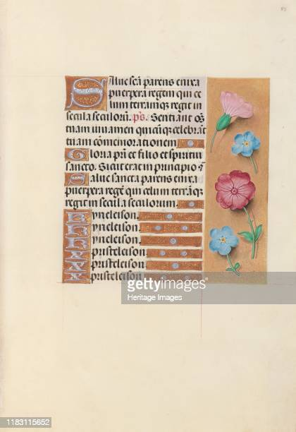Hours of Queen Isabella the Catholic Queen of Spain Fol 89r circa 1500 This manuscript was illuminated by a circle of at least five highly organized...
