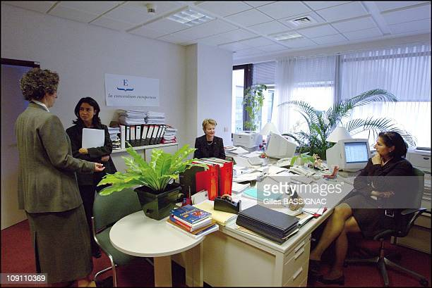 Hours With European Convention President Valery Giscard D'Estaing On June 2 2003 In Brussels Belgium Plenary Session Chief Of Staff Walpunga...