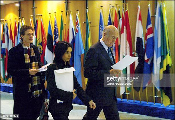 Hours With European Convention President Valery Giscard D'Estaing On June 2 2003 In Brussels Belgium Plenary Session Nikolaus MeyerLandrut Alessandra...