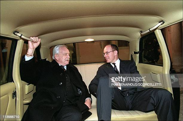 48 hours with Prince Albert/ MC In Monaco City Monaco In March 1998Prince Albert with his father Prince Rainier in their official car leaving for the...